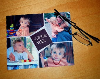 cloth wipes glasses personalized with your photos
