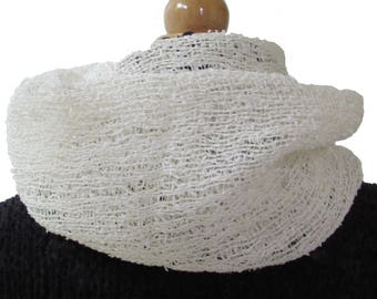 White paper moire scarf
