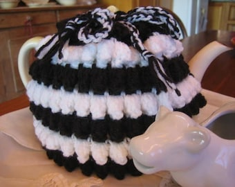 Popcorn Tea Cosy and Hot Pads crochet pattern - Aussie Kitchen Kitsch