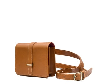 Leather Belt Bag Orange Tan