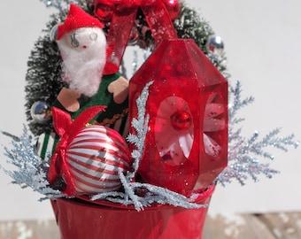 Christmas Elf Arrangement Bucket
