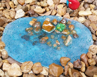 Fairy Garden Pond, Fairy Pond, Miniature Pond, Fairy Garden Accessory, Miniature Garden Pond, Miniature Garden Accessory, Fairy Garden Kit