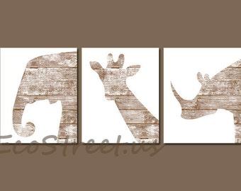 INSTANT DOWNLOAD, Safari Nursery Decor, Zoo Animals Nursery, Beachy Baby Boy Room Decor, Nursery Wall Art, Brown Wood Nursery, Antique Decor