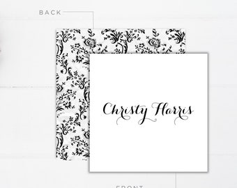 Monogrammed Calling Cards | Personalized Calling Cards | Personalized Gift Tags | Gift Enclosure Cards