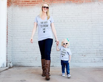 family shirts, mama baby shirts,  Mother's Day shirt gift matching mother daughter Mother's Day gift funny mom shirt, mom matching set,