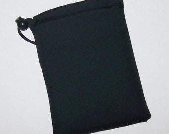 """Pipe Pouch, Black Pipe Case, Pipe Bag, Glass Pipes, Pipe Cozy, Padded Pipe Pouch, 420, Weed, Cannabis, Smoke Accessory - 7"""" DRAWSTRING"""