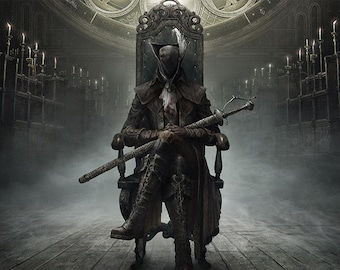 Bloodborne The Old Hunters Video Game Poster