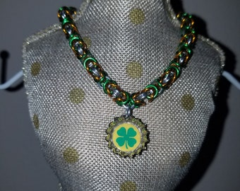 Irish Four Leaf Clover Chainmalle Bracelet
