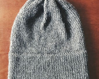 Double Brim Hat, Knit Slouchy Beanie | FOGHORN | Knit Hat