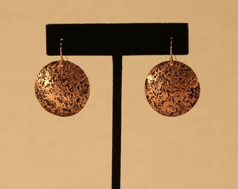 Abstract Textured Disk Earrings