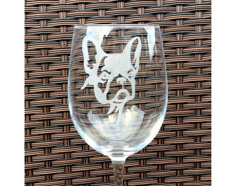 French bulldog wine glass / frenchie lover / frenchie gift ideas / french bulldog mad / frenchie items / engraved french bulldog / bulldog