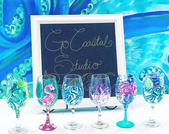 Coastal Wine Glass Painting Class