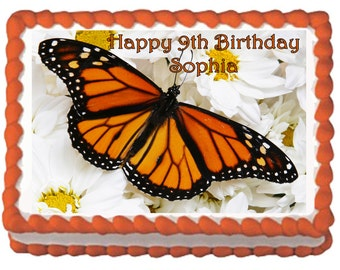 Butterfly Birthday Cake Butterfly Party Cake Topper with FREE Personalization