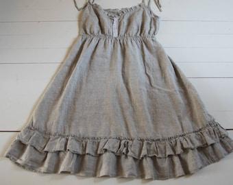 Natural Linen Dress Linen Summer Dress Linen Clothing Linen Tunic Plus Size Dress Sustainable Clothing Organic Linen Nightgown European Flax