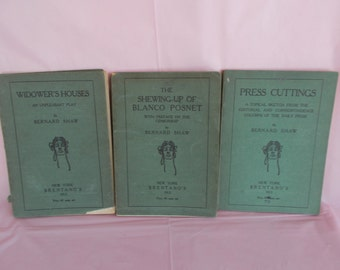 Antique /Vintage Bernard Shaw Play Books /Lot