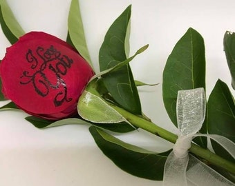 Personalised Fresh Rose
