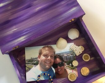 Purple Dreams Wooden Travel Box