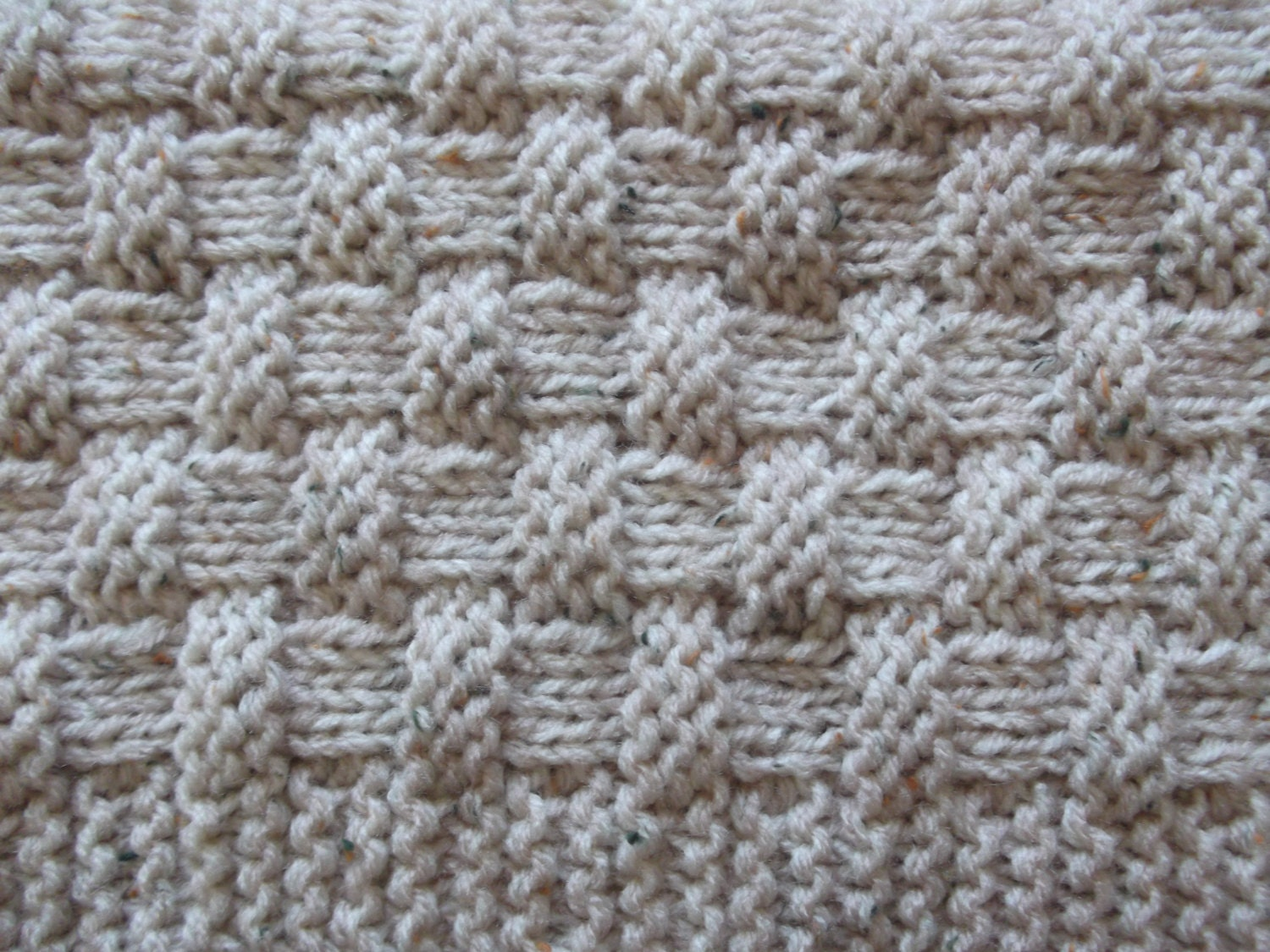 Quick and Easy Basket Weave Baby Blanket / Basket stuffer / Lap ...