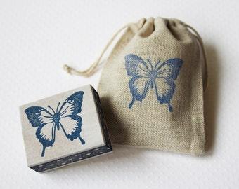 Vlinder stempel, handgemaakt