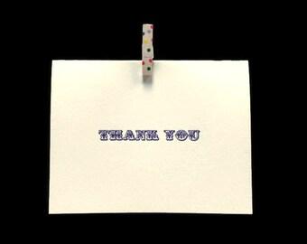 Gocco-Printed Thank You Card
