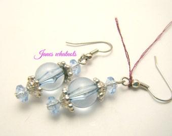 Earrings - Blue lantern earrings - Dangle Earrings - Blue Earrings