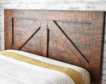 Barn Door, Headboard Queen, Wood Headboard, Wall Mounted headboard, Bedroom Decor, Bedroom Furniture, Headboard King, HeadBoard, Barn Wood,