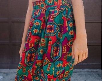 Vintage 80's Southwestern  Praire Skirt