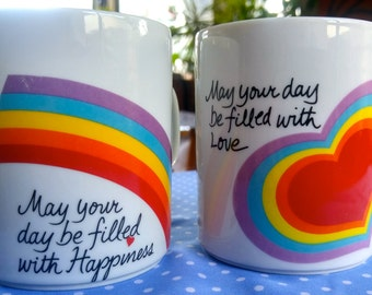 Vintage Avon Easter Mugs 80s Love and Happiness