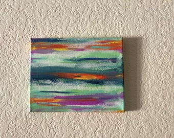 """Reflections - 8x10"""" - Abstract - Hand Painted : One of a Kind"""