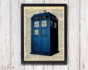 Doctor Who Tardis Dictionary Art