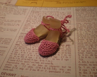 Enchanted Doll Espadrilles in Dark Pink