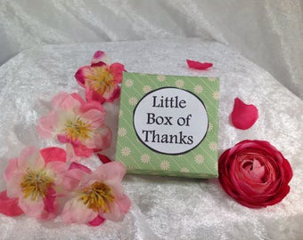 Little Box of Thanks ~ Handmade Gift, Thank you gift,