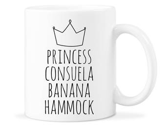 Friends TV Show Friends Show Mug Mug Funny Consuela Mug Consuela Coffee Mug Friend Consuela Gift Banana Hammock Mug Princess Banana Mug