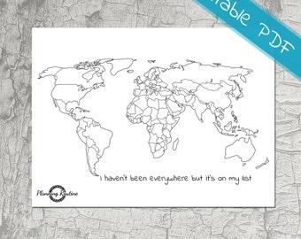 Worldmap sticker worldmap world travel sticker map of the world planner stickers map of the world map of the world printable sticker gumiabroncs Image collections