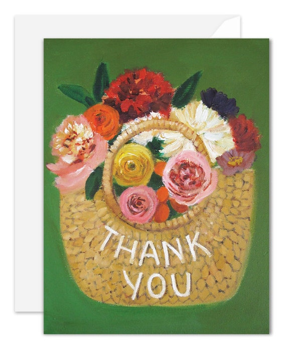 Thank You Basket. Birthday Card. SKU JH1116