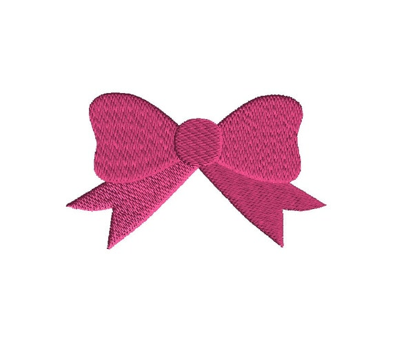 Bow filled stitch machine embroidery design instant download for Embroidery office design version 9