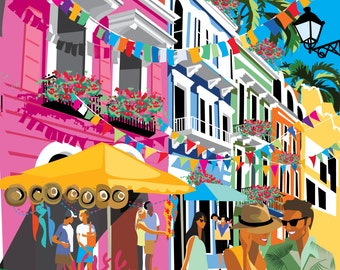 Fun in Old San Juan Poster