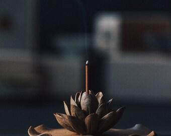 Summer: Incense holder - Modern Home Decor - Zen Art Pottery - Incense Holder - Meditation Yoga - Lotus Bloom Incense Burner
