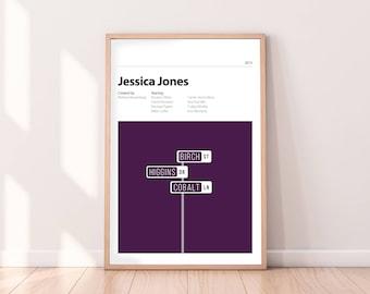 JESSICA JONES - Marvel Alternative Poster - Kristen Ritter - Luke Cage - Kilgrave - PRINT