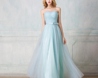 Selena Huan Sweetheart strapless full-length tulle bridesmaid dress, Multiple colors, Corset/Zip - New Sample, 25% OFF