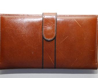 Vintage Brown Leather Ladies Wallet