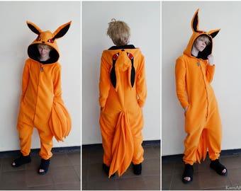 RESERVED for Andy ~ Kurama Kigu~ Kyuubi Tailed Beast from Naruto onesie/kigurumi/costume~