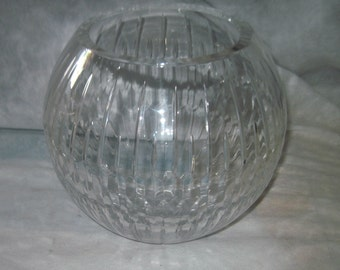 Vintage Bombay Glass Crystal Bowl