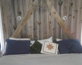 Barn door headboard (king size)