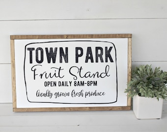 Town Park Fruit Stand SVG for cutting machines