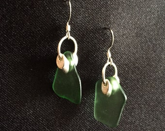 Lake Superior Beach Glass Earrings