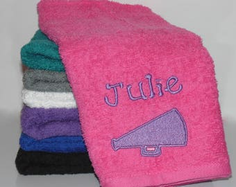 Personalized Hand Towel - Sport Towel - Team Gift - Cheer - Baseball - Basketball - Wrestling - Biking - Softball - Football - Tennis - Swim