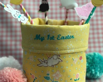 Fabric bucket, fabric basket, easter basket