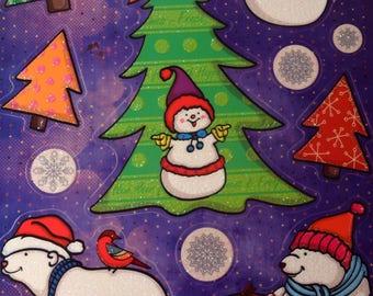 13 decorations glass Christmas - trees - snowflakes - polar bear