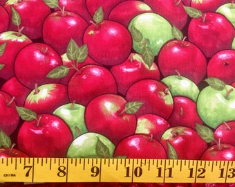 Timeless Treasures Apples C3169 Red Green Cotton Fabric By the Yard
